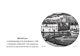 Mill Lane Cambridge greetings card